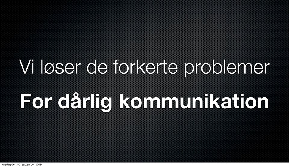 problemer For