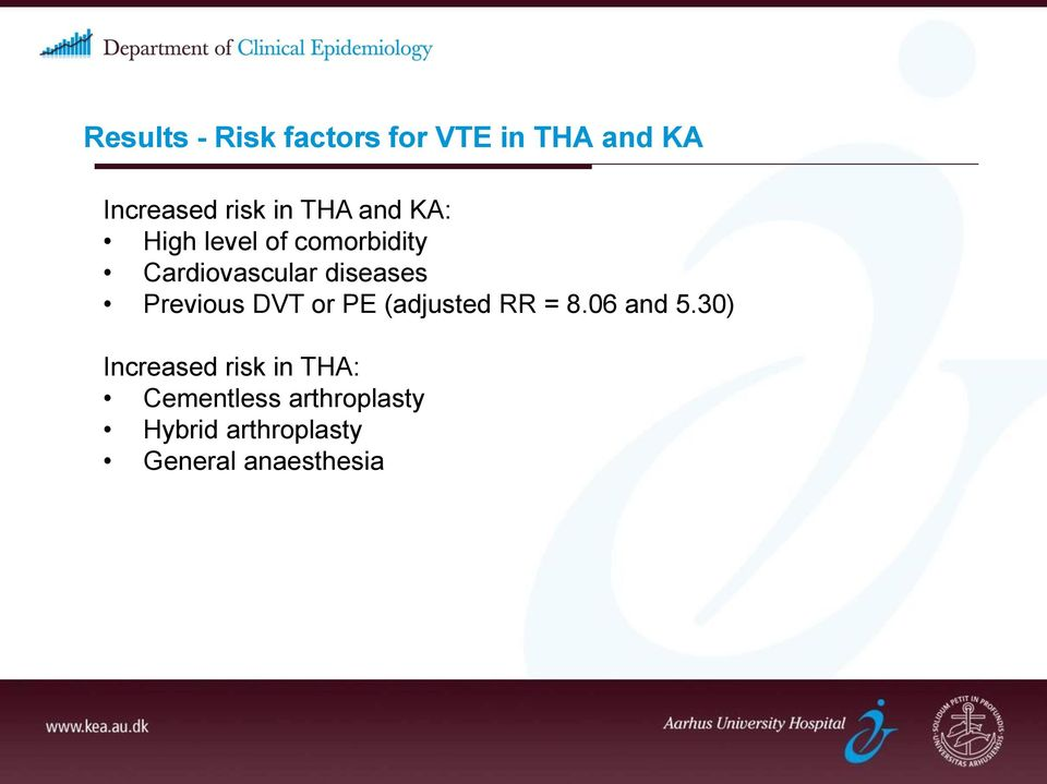Previous DVT or PE (adjusted RR = 8.06 and 5.