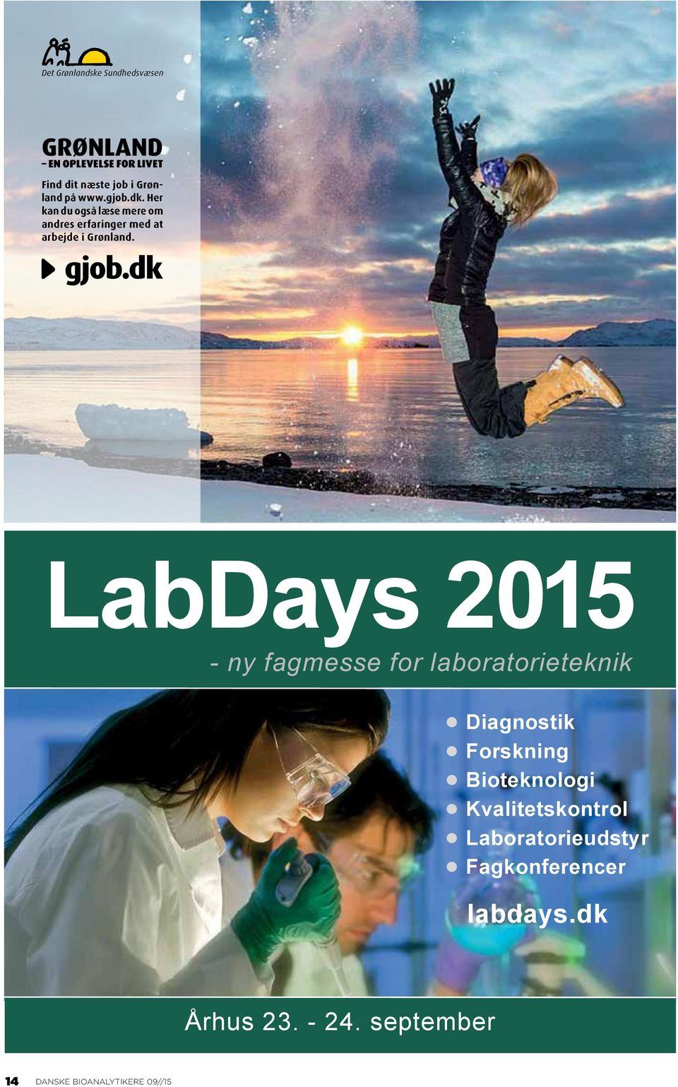 dk LabDays 2015 - ny fagmesse for laboratorieteknik Diagnostik Forskning Bioteknologi