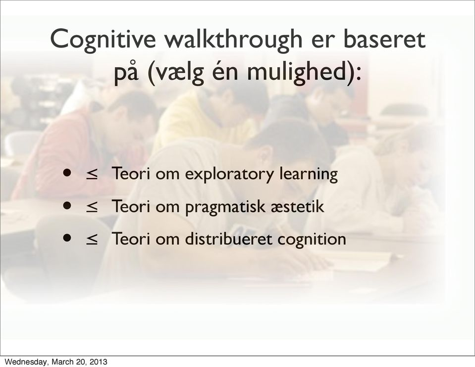 exploratory learning Teori om