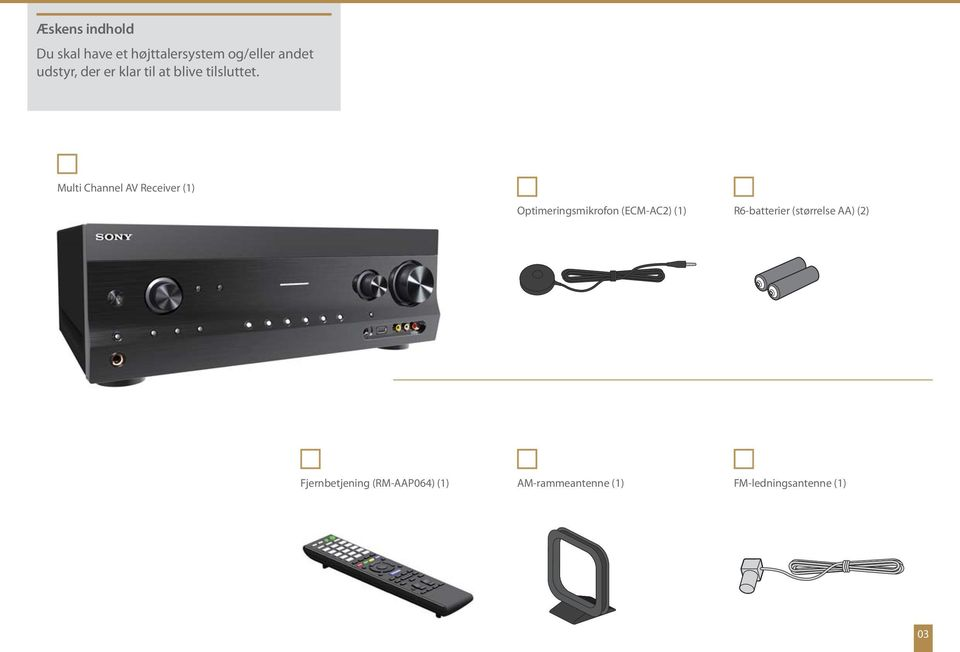 Multi Channel AV Receiver (1) Optimeringsmikrofon (ECM-AC2) (1)