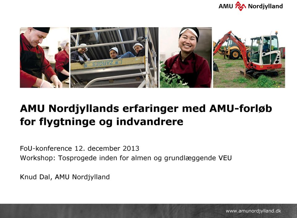 december 2013 Workshop: Tosprogede inden for