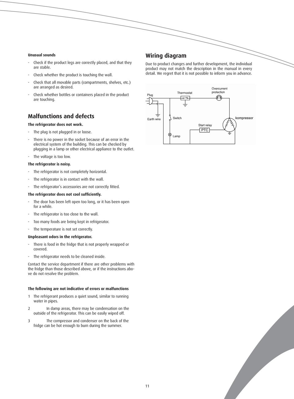 Wiring diagram Due to product changes and further development, the individual product may not match the description in the manual in every detail.
