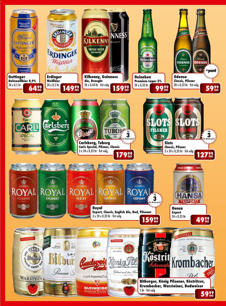 Pilsner, Classic x 24 x 0, ltr frit valg Classic, Pilsner 179 x 24 x 0, ltr frit valg 127 Royal Hansa Export, Classic, English Ale, Red,