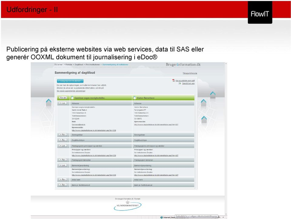 services, data til SAS eller