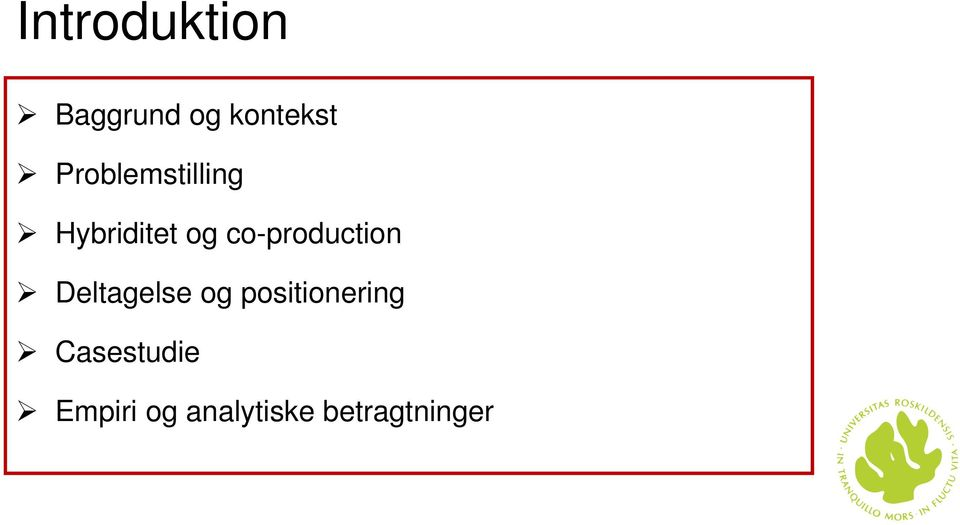 co-production Deltagelse og