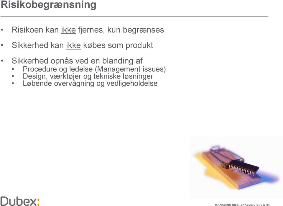 blanding af Procedure og ledelse (Management issues) Design,