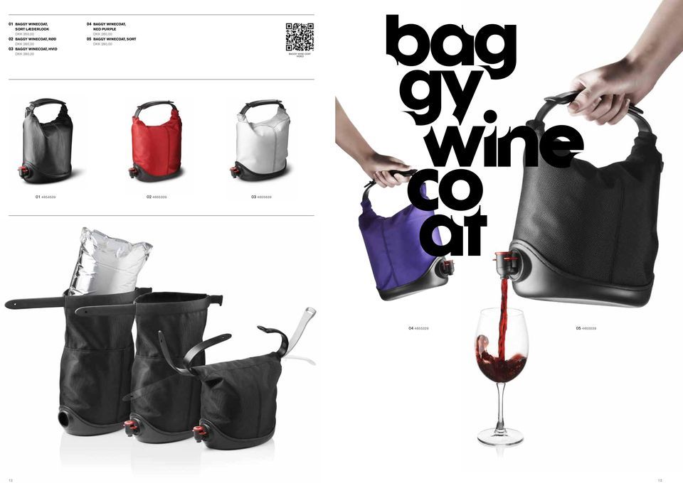Winecoat, neo purple 05 Baggy Winecoat, sort baggy wine