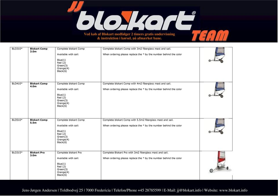 0m Complete blokart Comp Available with sail: Complete blokart Comp with 4m2 fiberglass mast and sail.