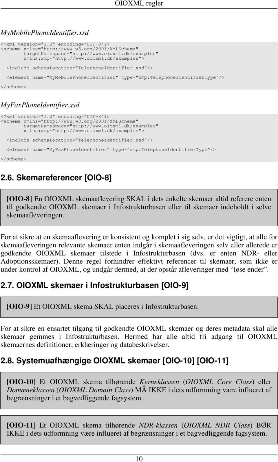 "xml version=""1.0"" encoding=""utf-8""?> <schema xmlns=""http://www.w3.org/2001/xmlschema"" targetnamespace=""http://www.oioxml.dk/examples"" xmlns:xmp=""http://www.oioxml.dk/examples""> <include schemalocation=""telephoneidentifier."
