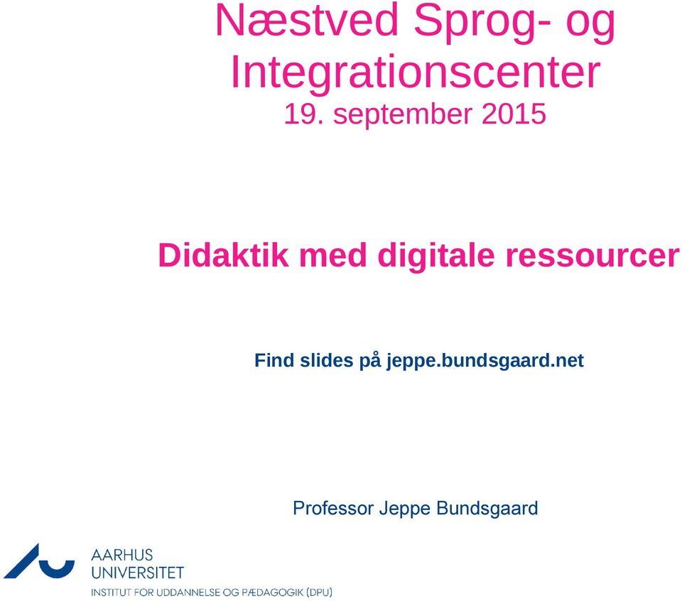 digitale ressourcer Find slides på