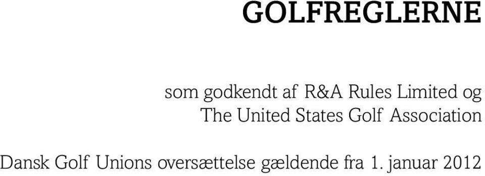 Golf Association Dansk Golf Unions