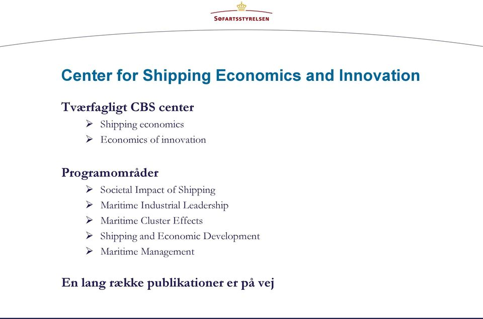 of Shipping Maritime Industrial Leadership Maritime Cluster Effects