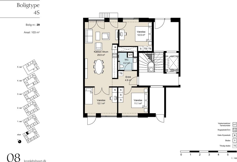 : 29 Areal: 103 m 2 12.5 m² 29.