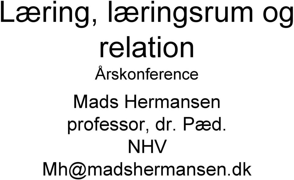 Mads Hermansen professor,