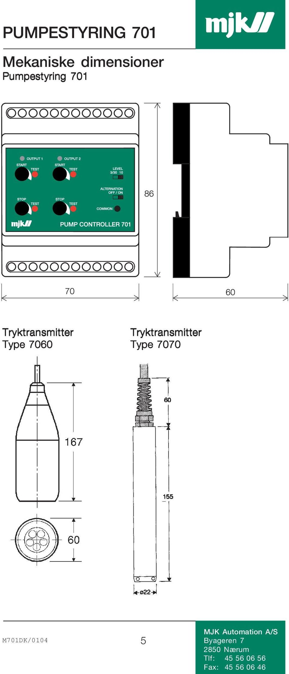 Tryktransmitter