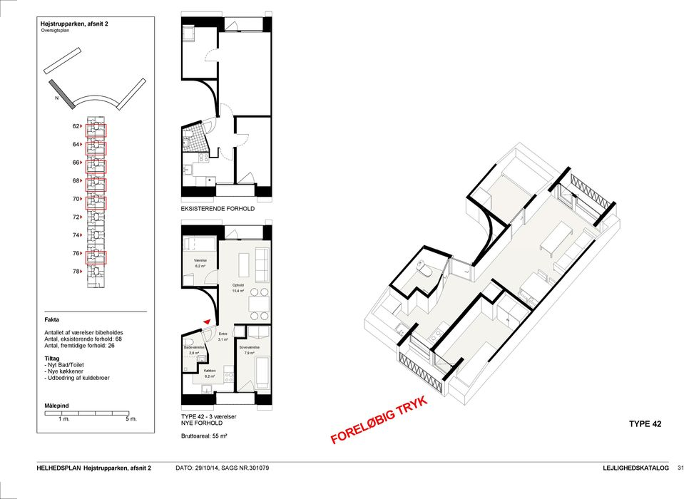 forhold: 26 2,8 m² 6,2 m² 3,1 m² 7,9 m² TYPE