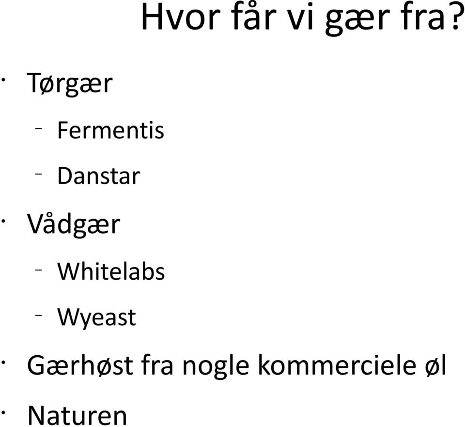 Vådgær Whitelabs Wyeast