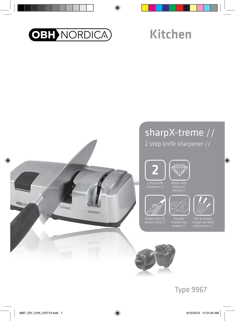pins // Flexible sharpening wheels // For all knives except
