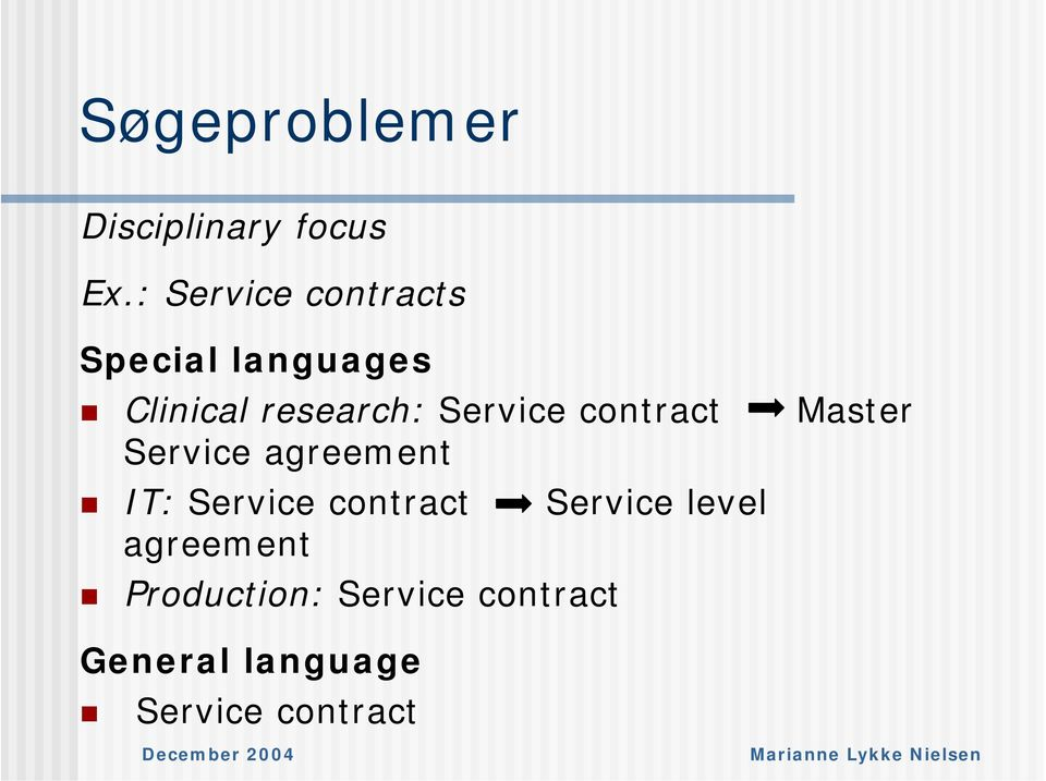 Service contract Master Service agreement IT: Service