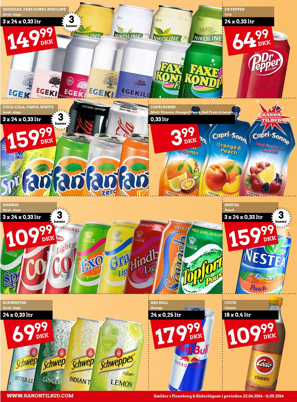 Fruits & Lemon x 0, ltr 159 Harboe Nestea Peach x 109 x 159