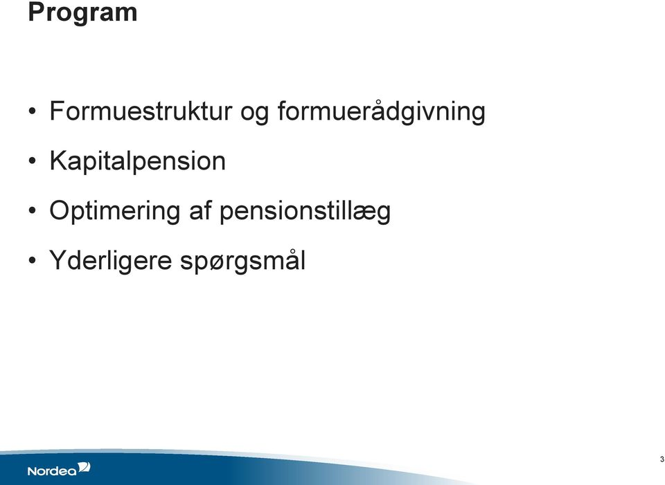 Kapitalpension Optimering