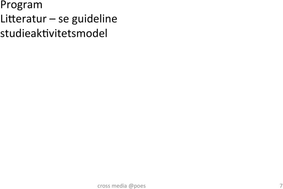 guideline