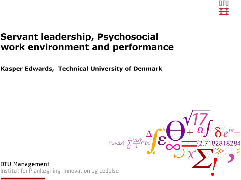environment and performance