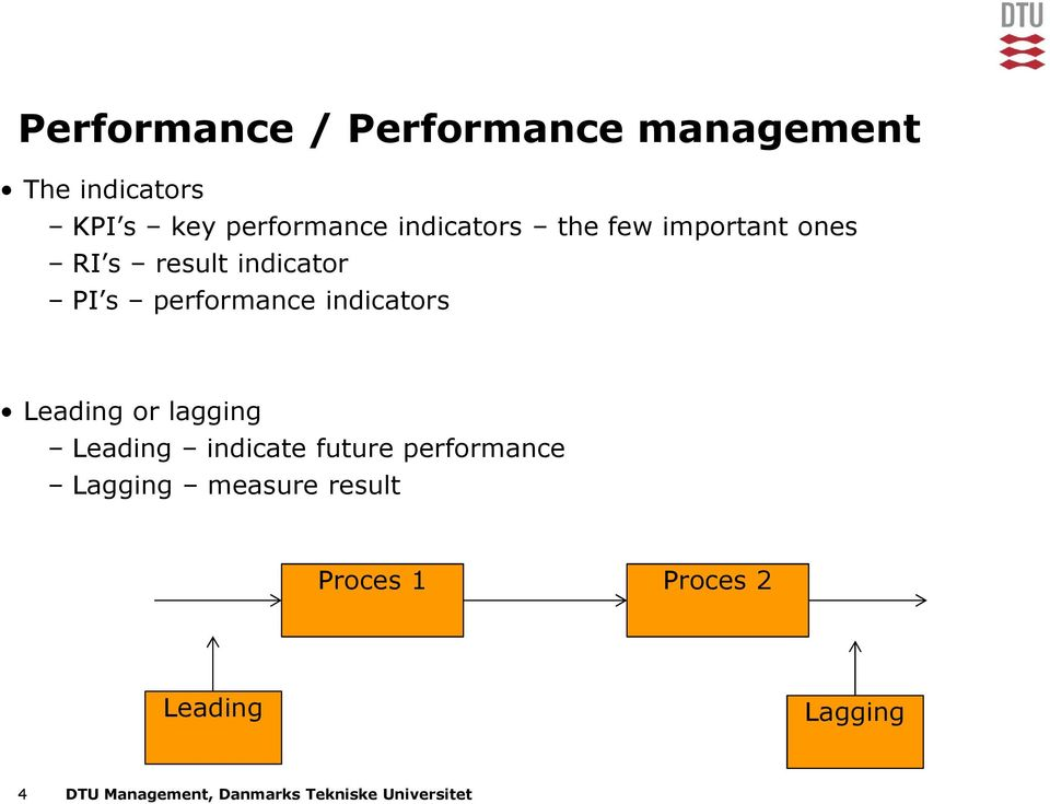 indicators Leading or lagging Leading indicate future performance Lagging