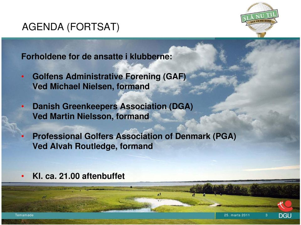 (DGA) Ved Martin Nielsson, formand Professional Golfers Association of Denmark