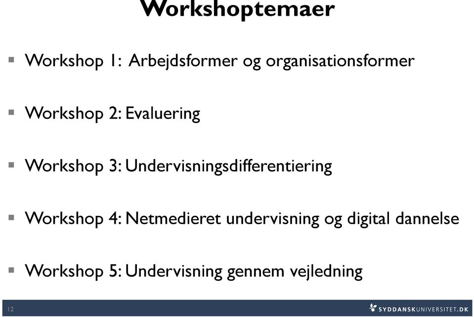 Undervisningsdifferentiering Workshop 4: Netmedieret