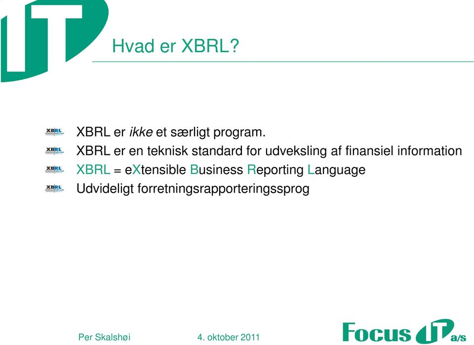 finansiel information XBRL = extensible Business