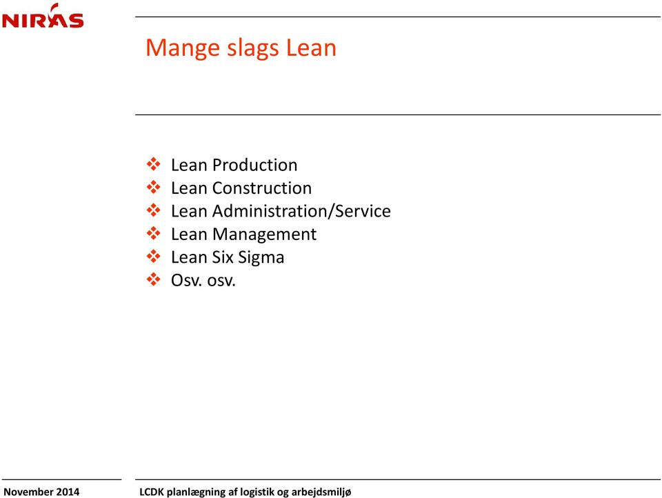 Lean Administration/Service