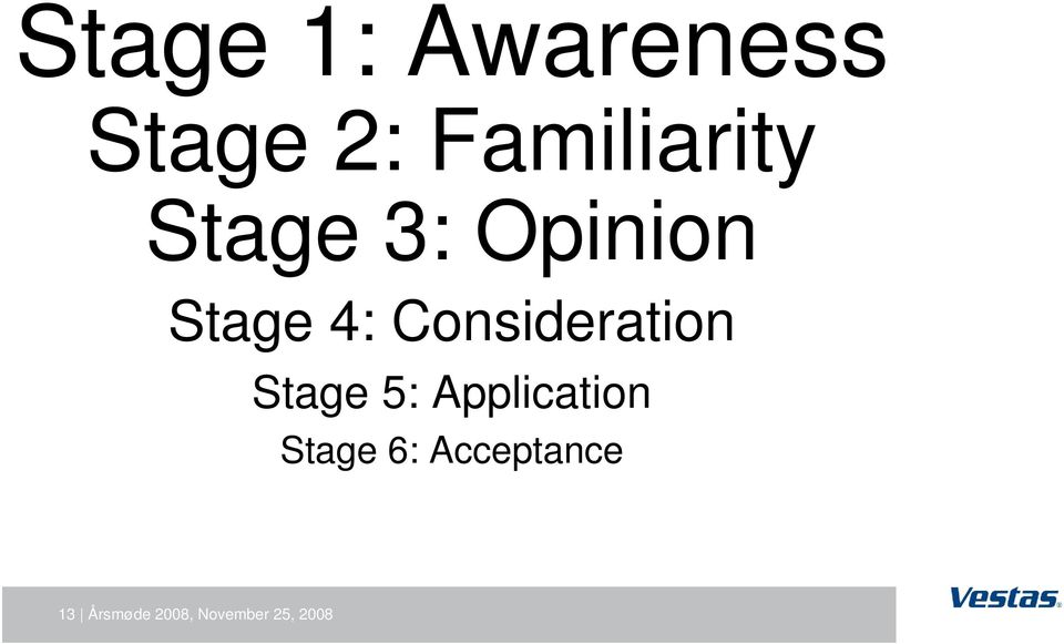 Consideration Stage 5: Application