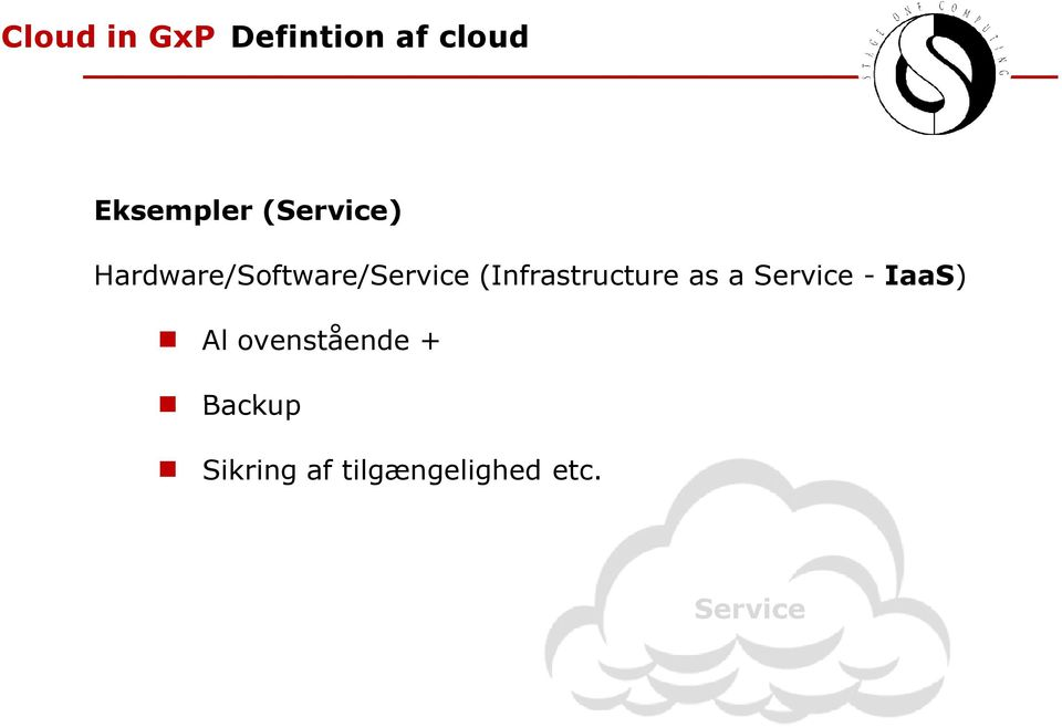 (Infrastructure as a Service - IaaS) Al