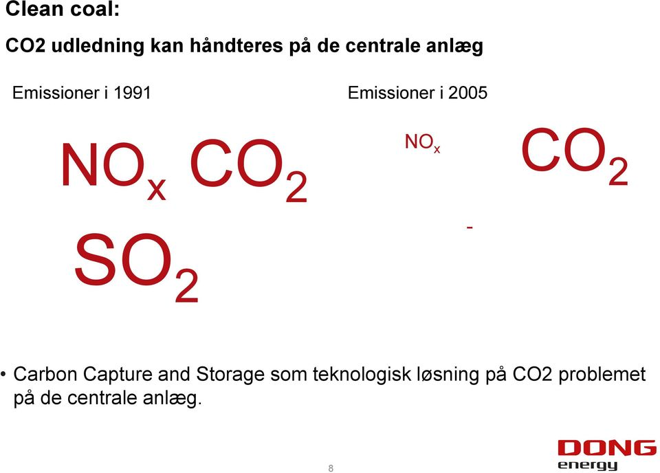 x CO 2 SO 2 NO x CO - 2 Carbon Capture and Storage