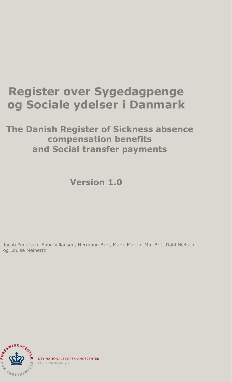 Social transfer payments Version 1.