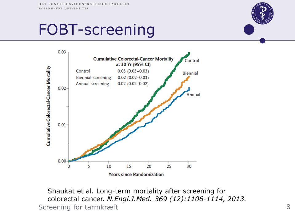 screening for colorectal cancer.