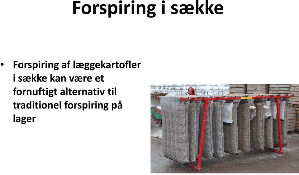 alternativ til traditionel