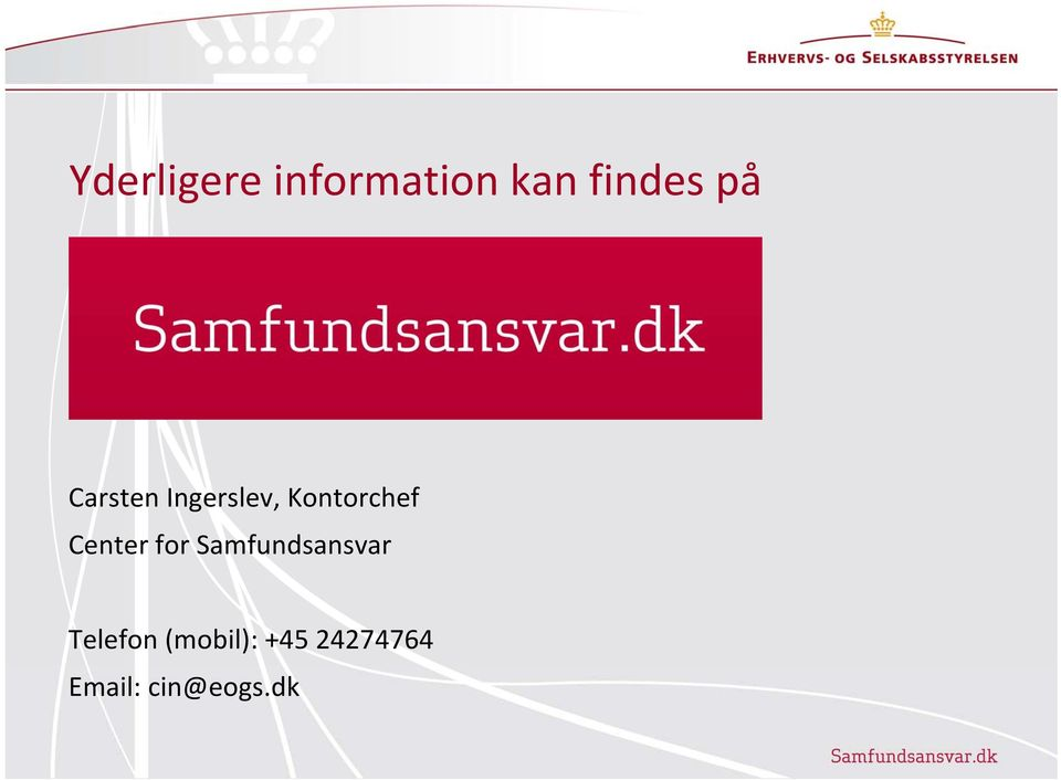 Center for Samfundsansvar Telefon
