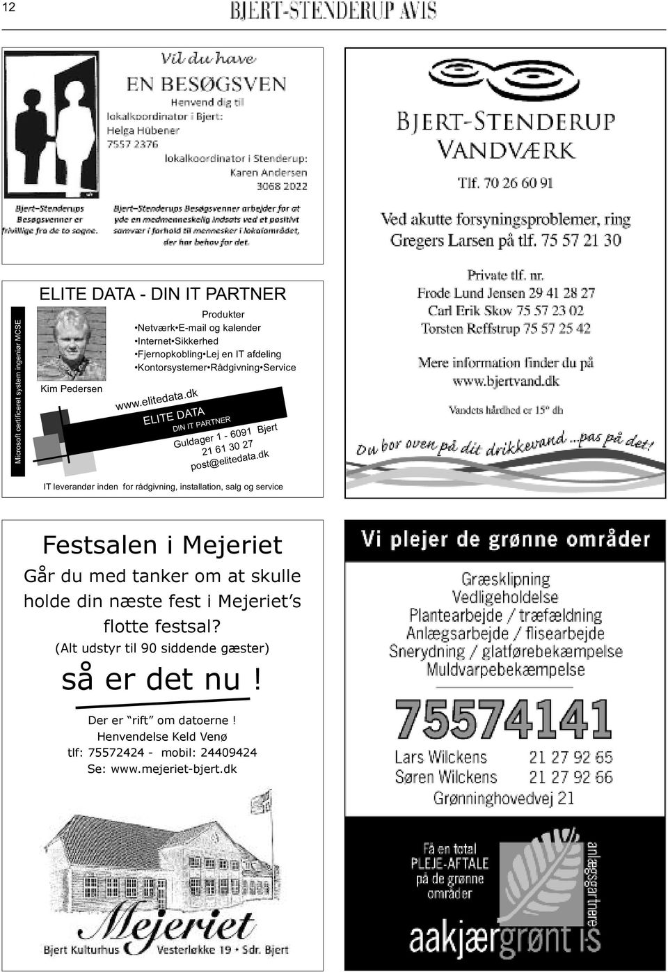 dk ELITE DATA DIN IT PARTNER Guldager 1-6091 Bjert 21 61 30 27 post@elitedata.