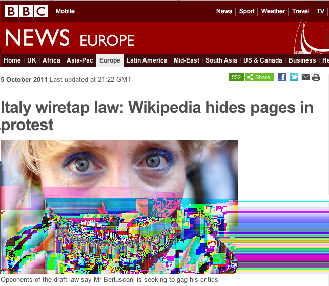 Wikipedia.it Italy http://www.bbc.co.