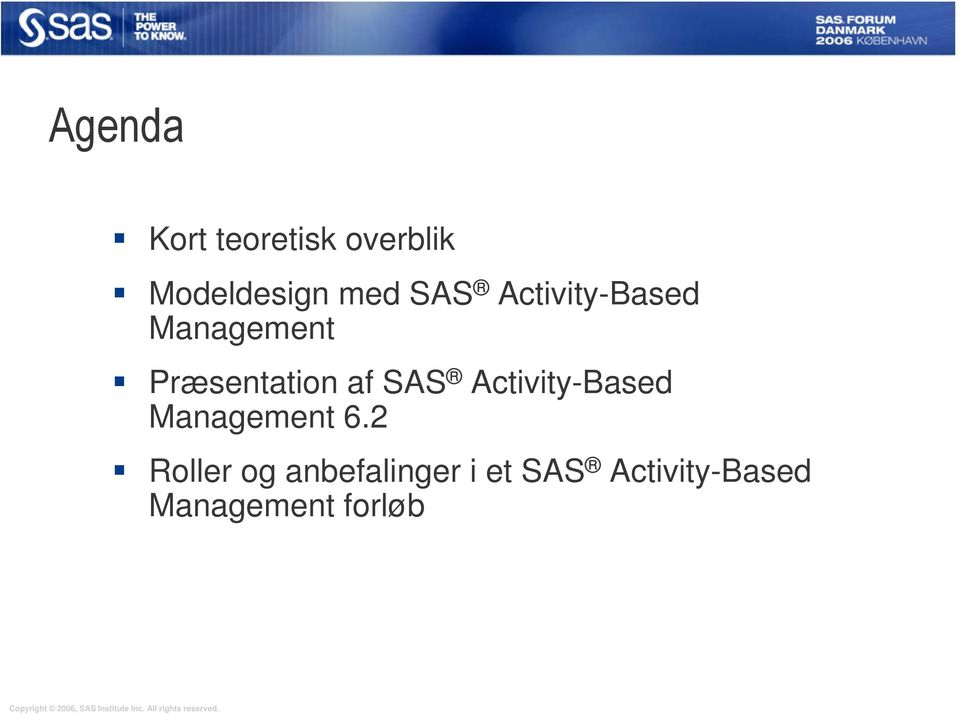 SAS Activity-Based Management 6.