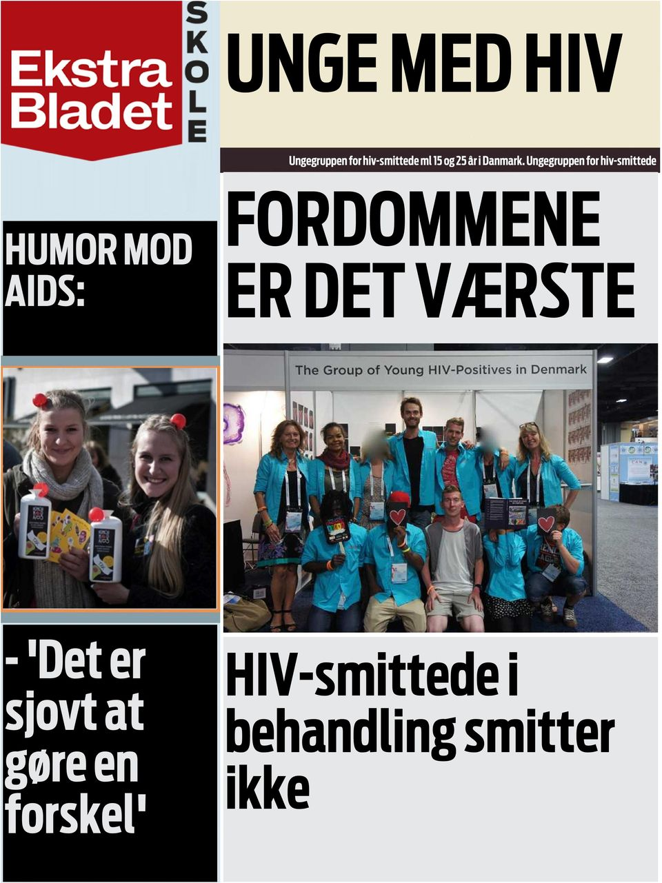 Ungegruppen for hiv-smittede HUMOR MOD AIDS:
