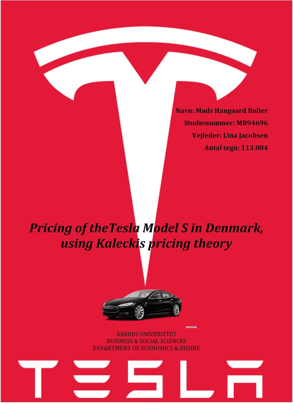 004 Pricing of thetesla Model S in Denmark, using Kaleckis