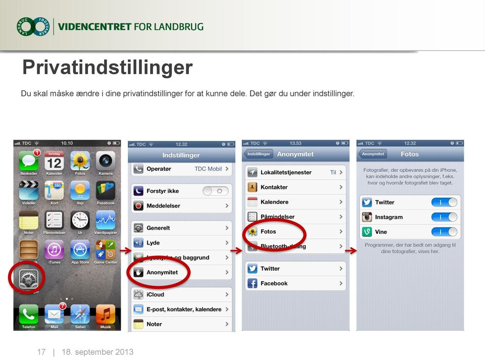 privatindstillinger for at