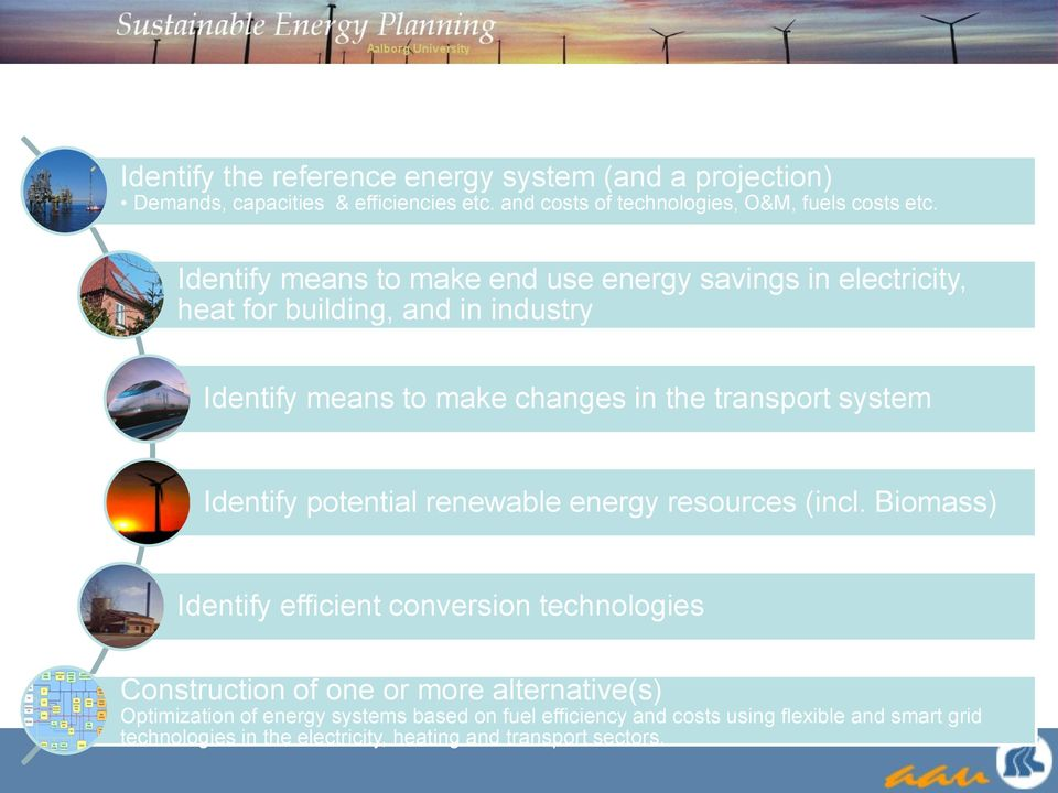 system Identify potential renewable energy resources (incl.