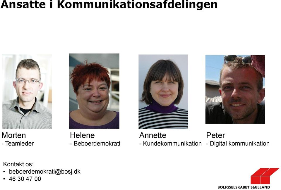 Kundekommunikation Peter - Digital