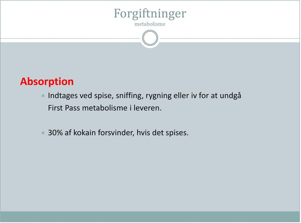 iv for at undgå First Pass metabolisme i