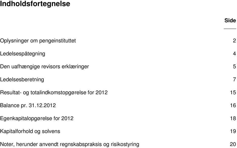 totalindkomstopgørelse for 2012